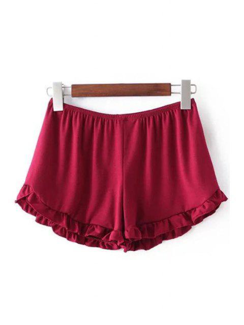 Solides Shorts de taille couleur Parage élastiques - Rouge Taille Unique(S'adap Mobile
