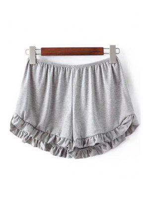 Shorts à taille élastique à couleur pure