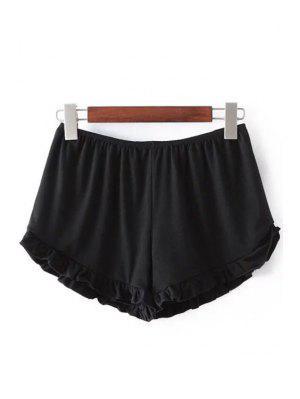 Shorts Monocromático Aseado con Cintura Elática