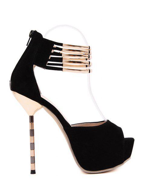 sale Metal Platform Stiletto Heel Peep Toe Shoes -   Mobile