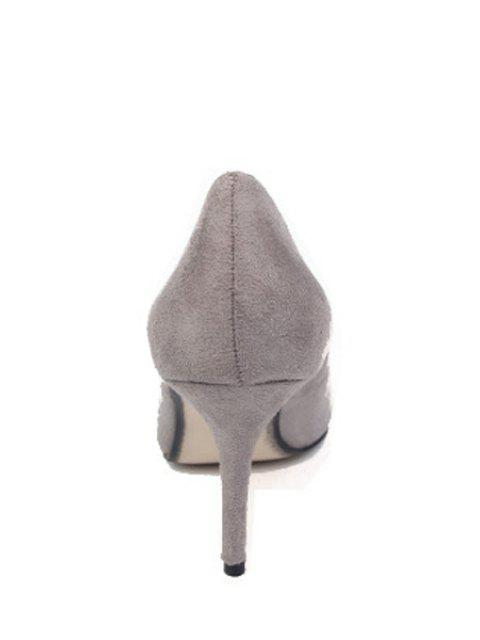 lady Flock Solid Color Pointed Toe Pumps -   Mobile