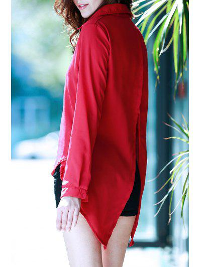 Fly By Cape Red Blouse - Deep Red