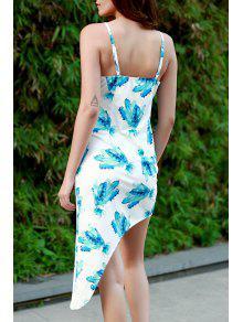 ido S Blanco Asim 233;trico Vestido Hawai Tirante Ce Fino Con De De Estampado B5qOSp