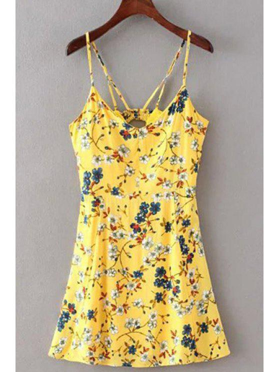 new Floral Print Cami Dress - YELLOW M