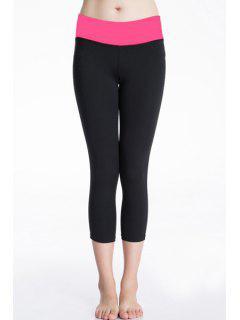 Actifs Pantalon Taille élastique Extensible Gym Pour Les Femmes - Rose S