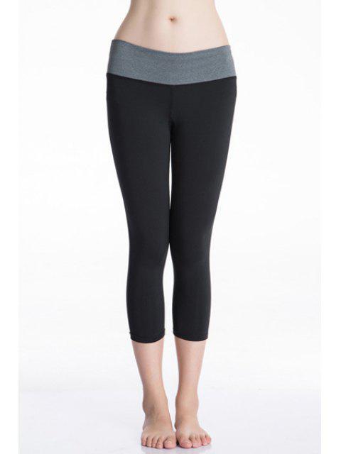 hot Tight Fit Capri Pants - GRAY S Mobile