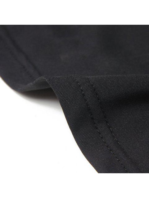 Débardeur actif U Neck Yoga Stretchy pour les femmes - Noir XL Mobile