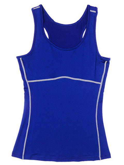 chic Exposed Seams Sports Tank Top -   Mobile