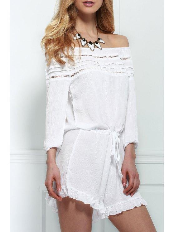 Combinaison épaules dénudés à lacet - Blanc S