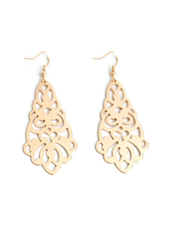 best Flower Hollow Out Earrings - GOLDEN