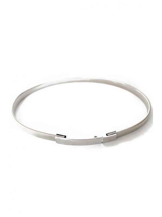 womens Simple Style Alloy Belt - SILVER