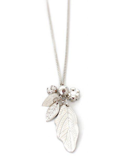 buy Solid Color Leaf Sweater Chain -   Mobile