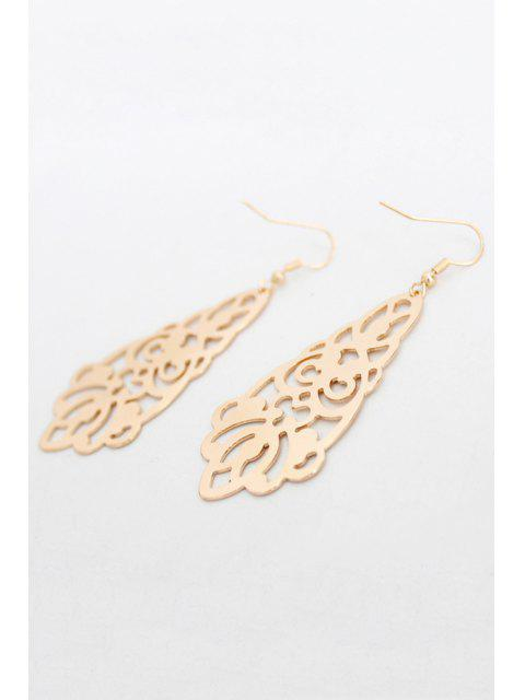 best Flower Hollow Out Earrings - GOLDEN  Mobile
