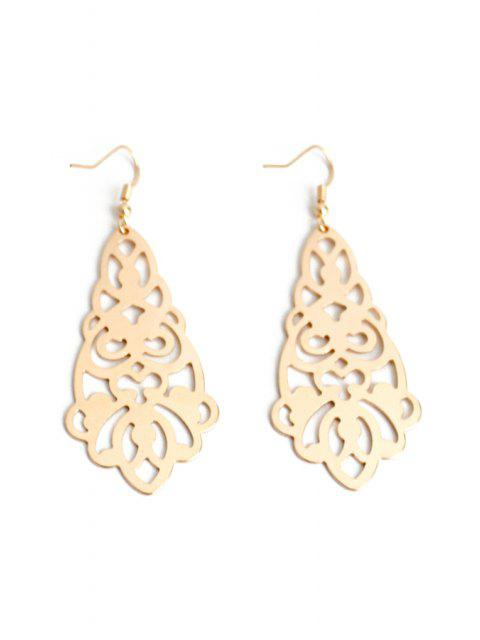 best Flower Hollow Out Earrings - GOLDEN  Mobile