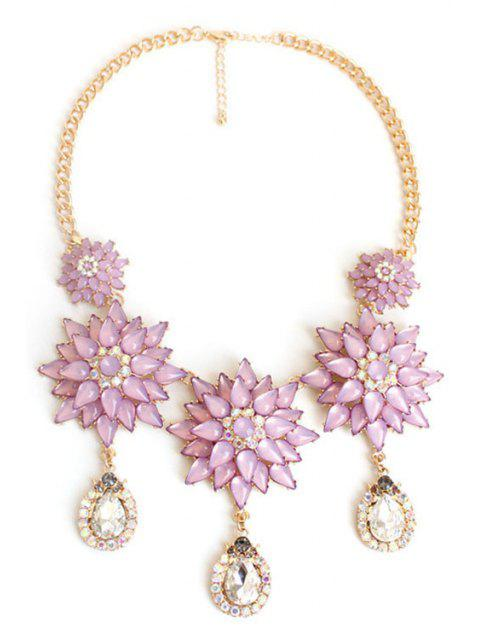 trendy Exquisite Floral Pendant Necklace -   Mobile