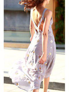 Bohemia Del Recorte Moldeado Del Otoño Vestido De Amor - Púrpura L