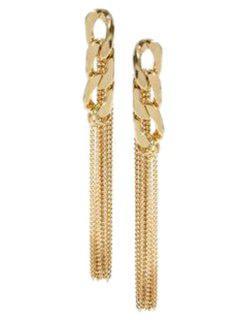 Chic Link Chain Tassel Earrings - Golden