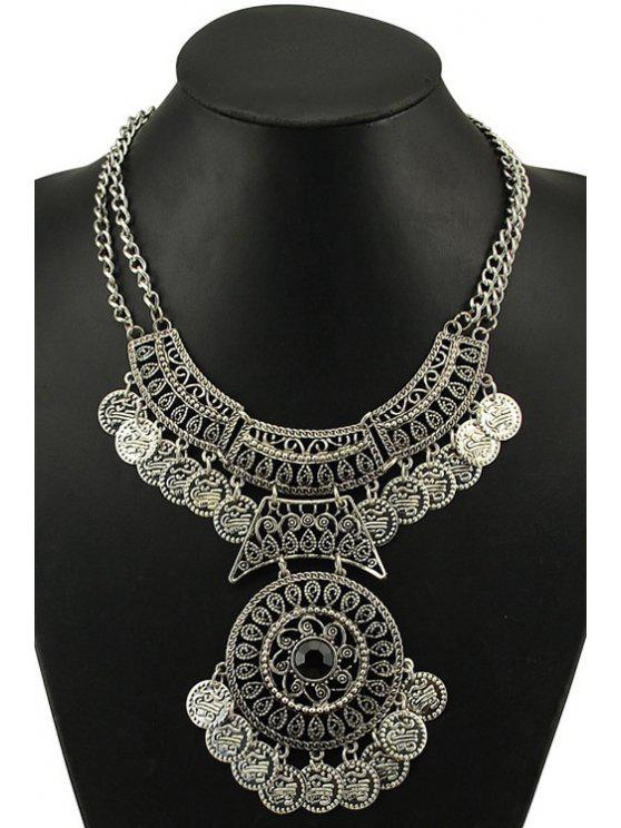 unique Vintage Round Coin Necklace - SILVER