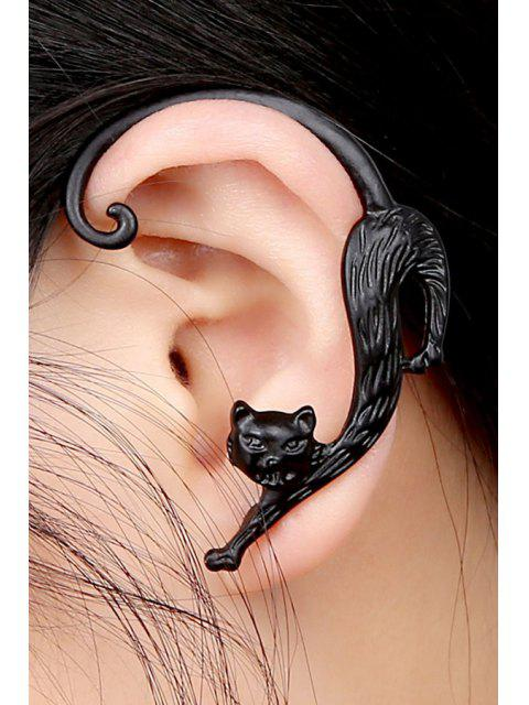 ONE PIECE Earring Shape Kitten Retro - Noir  Mobile