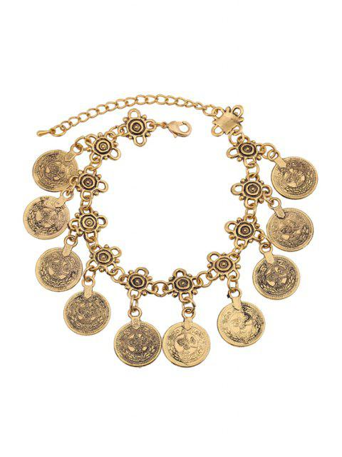 shops Alloy Coin Tassel Bracelet -   Mobile