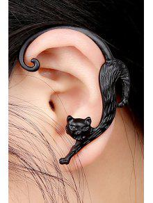 2019 One Piece Retro Kitten Shape Earring In Black Zaful