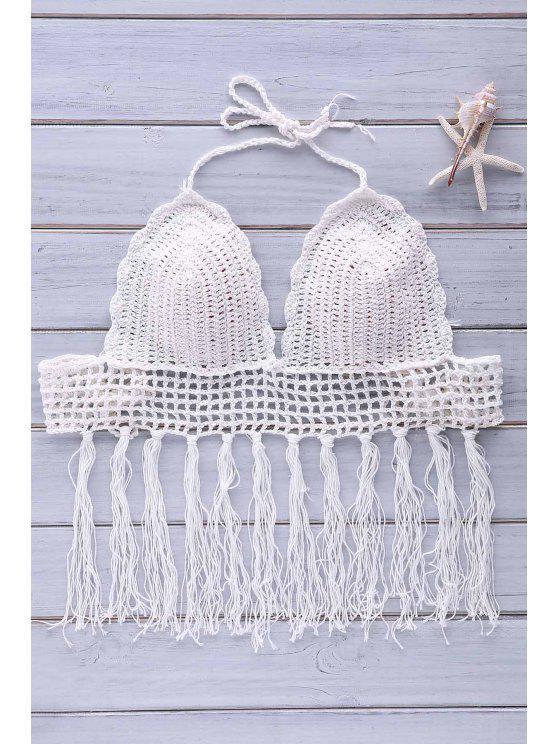 lady Crochet Tassel Bikini Set - WHITE ONE SIZE(FIT SIZE XS TO M)