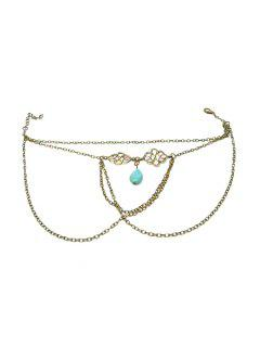 Ethnic Turquoise Water Drop Armlet - Bronze-colored