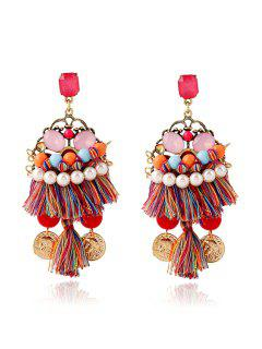 Ethnic Bohemia Coin Tassel Earrings
