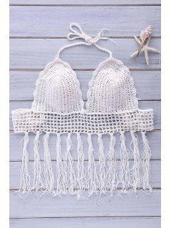 Crochet Tassel Bikini Set - White