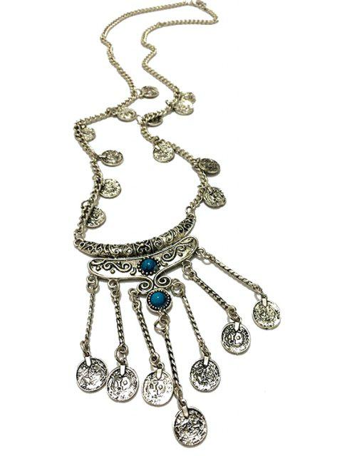 latest Crescent Coin Fringed Necklace -   Mobile