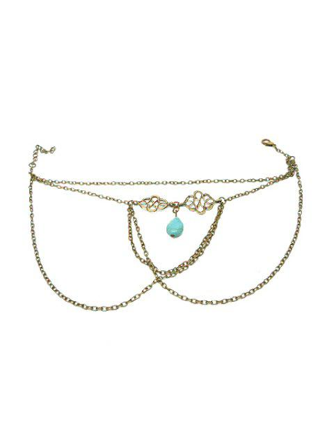 sale Ethnic Turquoise Water Drop Armlet -   Mobile