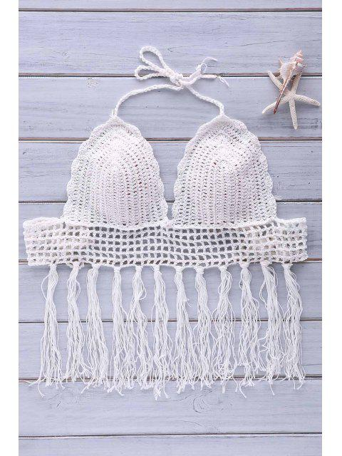 lady Crochet Tassel Bikini Set - WHITE ONE SIZE(FIT SIZE XS TO M) Mobile