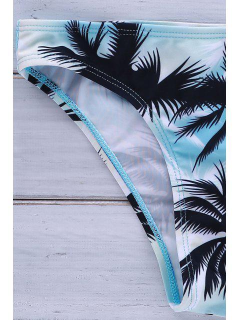 unique Coco Tree Print Halter Bikini Set - WHITE L Mobile