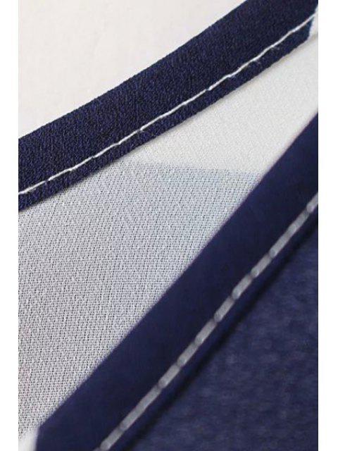 shop Stripe Scoop Neck Maxi Sundress - BLUE AND WHITE XL Mobile
