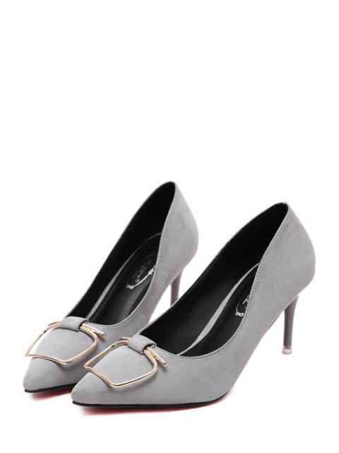 fancy Metal Stiletto Heel Pointed Toe Pumps -   Mobile