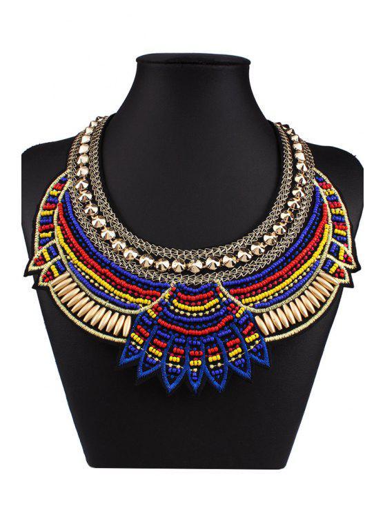Bohemia Knitting Fake Collar Necklace - Azul