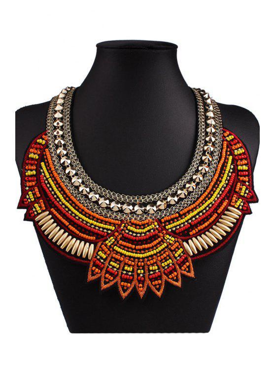 Bohemia Knitting Fake Collar Necklace - Café