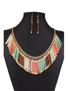 Bohemia Alloy Tassel Necklace And Earrings