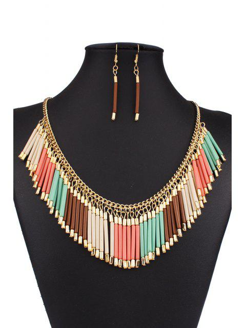 latest Bohemia Alloy Tassel Necklace and Earrings - COLORMIX  Mobile