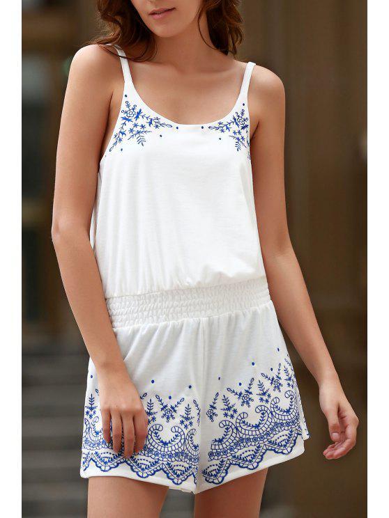 السباغيتي حزام خمر الأزهار بلايسويت - أبيض XS