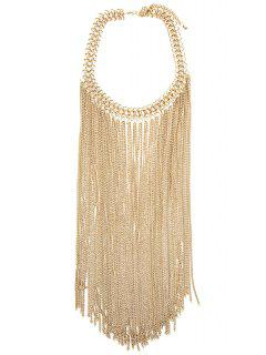 Simple Chaîne Style Lien Collier Tassel - Or