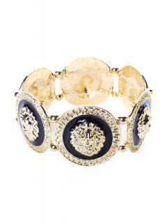 Lion Head Bracelet - Golden