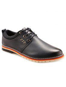 بسيطة بو الجلود و الدانتيل متابعة تصميم الرسمي أحذية للرجال - أزرق 43