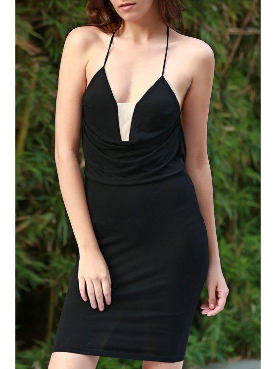 Preto Cami vestido Bodycon - Preto XL