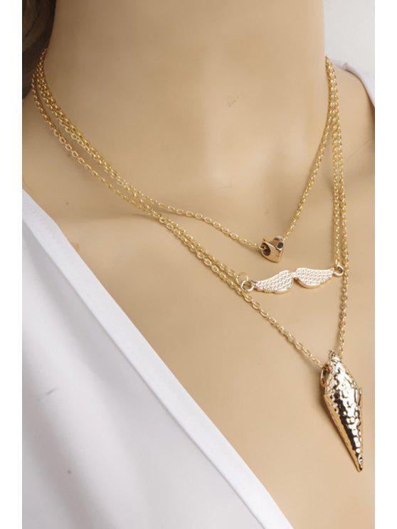 online Three Layered Necklace - GOLDEN