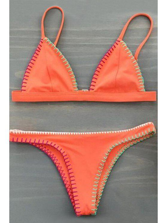 sale Orange Cami Bikini Set - ORANGE S