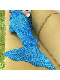 Knitted Mermaid Blanket - Water Blue