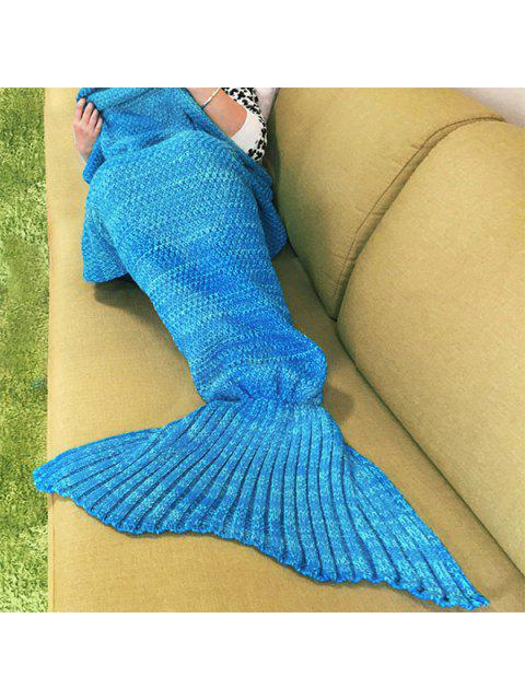 online Knitted Mermaid Blanket - WATER BLUE ONE SIZE(FIT SIZE XS TO M) Mobile