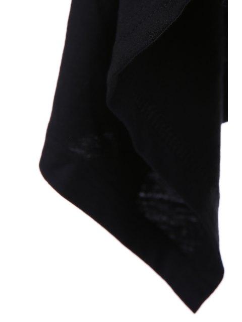 Col bénitier irrégulière Hem T-shirt - Noir M Mobile