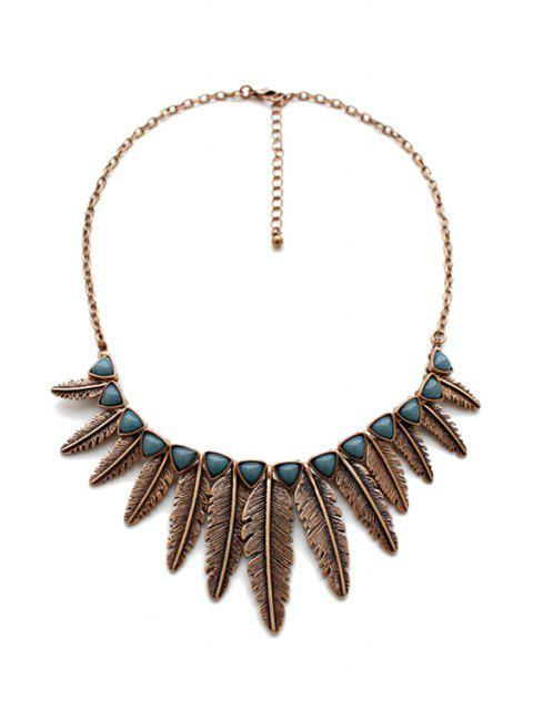 outfits Leaf Shape Pendant Necklace -   Mobile